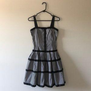Betsey Johnson Black & White Gingham Dress